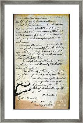 Emancipation Proc., P. 4 Framed Print