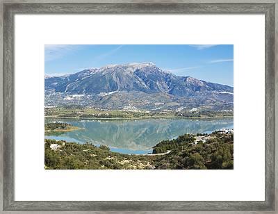 Embalse De La Vinuela, Vinuela Reservoir, Spain Framed Print by Ken Welsh