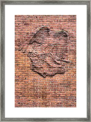 Embedded Eagle Framed Print by JC Findley