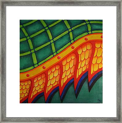 Framed Print featuring the painting Embellishments IIi by Paul Amaranto