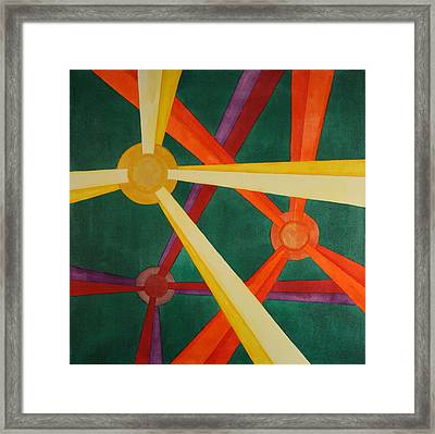 Framed Print featuring the painting Embellishments Iv by Paul Amaranto