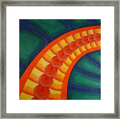 Framed Print featuring the painting Embellishments V by Paul Amaranto