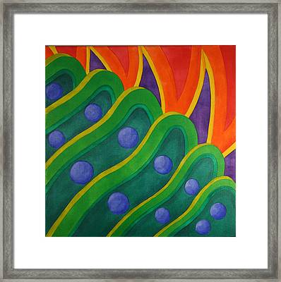 Framed Print featuring the painting Embellishmentsvi by Paul Amaranto