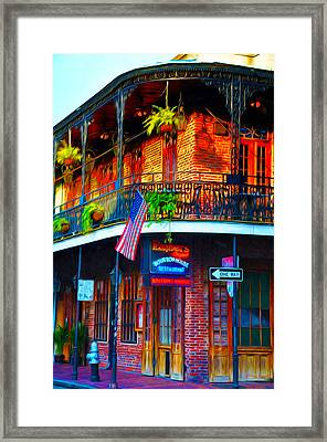 Embers Bourbon House Restaurant Framed Print by Bill Cannon