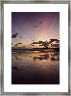 Embleton Bay Sunrise Framed Print by David Pringle