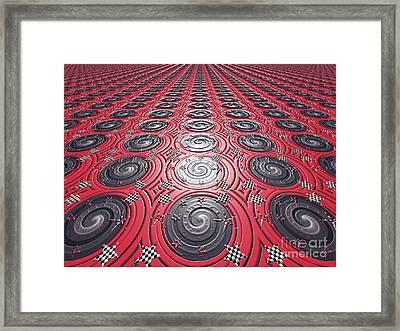 Embossed Record Tiles Framed Print by Jeannie Atwater Jordan Allen