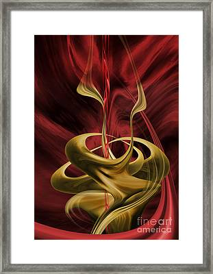 Framed Print featuring the digital art Embrace by Johnny Hildingsson