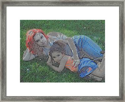 Embrace Your Child Framed Print by Rebecca Frank