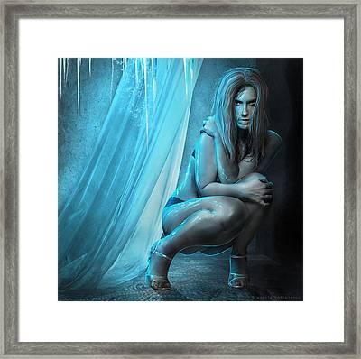 Embracing Eternal Cold Framed Print by Amalia Iuliana Chitulescu