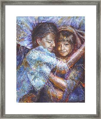 Embracing The Inner Child Framed Print by Catherine Foster