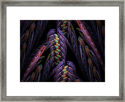 Embroidered Framed Print