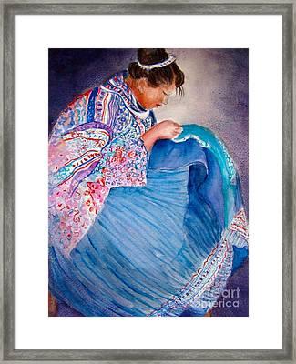 Embroidery Framed Print by Myra Evans