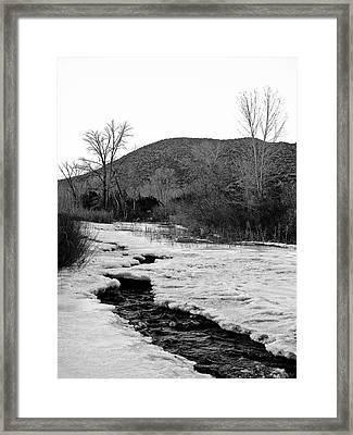 Embudo Ice Framed Print