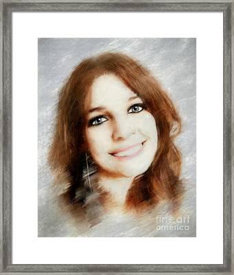 Emelia Framed Print by Arne Hansen