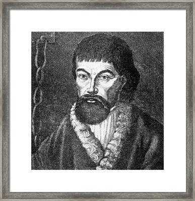 Emelvan Pugachev 1726-1775, Leader Framed Print by Everett