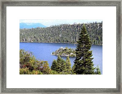 Framed Print featuring the photograph Emerald Bay State Park by Anne Raczkowski