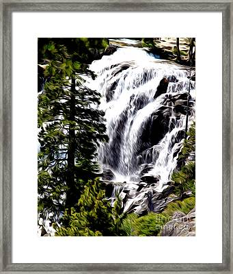 Framed Print featuring the photograph Emerald Bay Waterfall by Anne Raczkowski