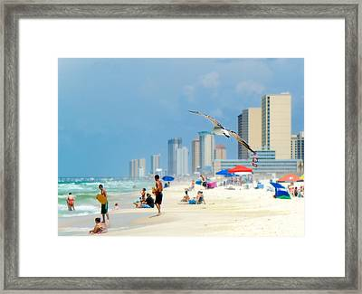 Framed Print featuring the photograph Emerald Beach by Anna Rumiantseva