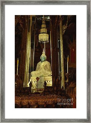Emerald Buddha Grand Palace Framed Print by Bob Christopher