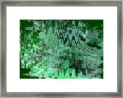 Emerald City - Abstract Art Framed Print by Carol Groenen