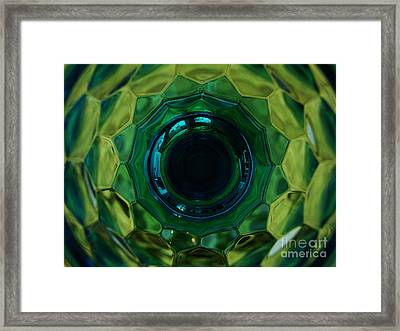 Emerald Eye Framed Print by Mark Holbrook