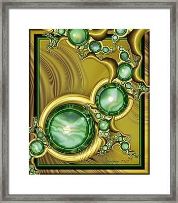 Emerald Gloss Framed Print