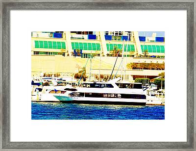 Emerald Hornblower Framed Print by Rom Galicia