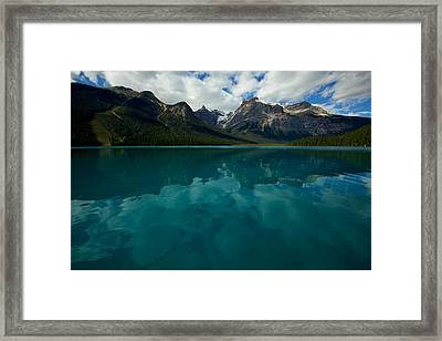 Framed Print featuring the photograph Emerald Lake by Jane Melgaard