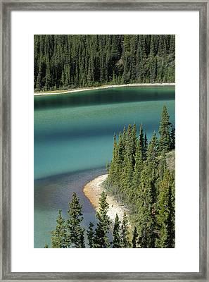 Emerald Lake, Whitehorse, Yukon Framed Print by Mike Grandmailson