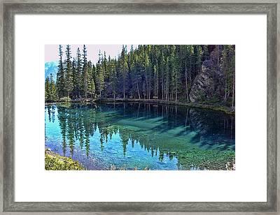 Emerald Mountain Pond Framed Print by Jo-Anne Gazo-McKim