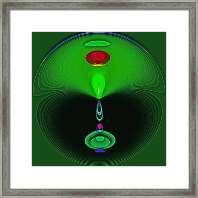 Emerald Oracle Framed Print by Samuel Sheats