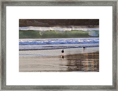 Framed Print featuring the photograph Emerald Wave by Johanne Peale