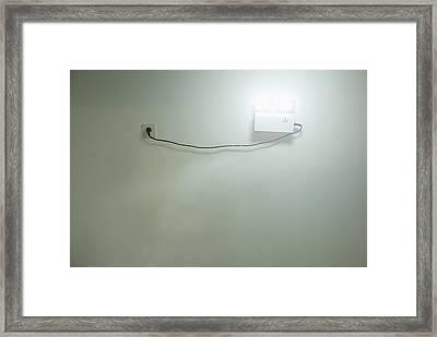 Emergency Electric Light Framed Print by Guang Ho Zhu