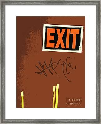 Emergency Exit Framed Print by Joe Jake Pratt