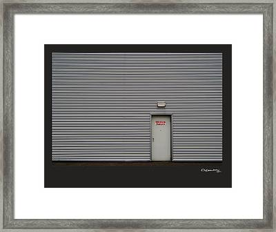 Emergency Exit Framed Print by Xoanxo Cespon