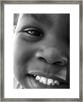 Emery Smile Framed Print by Sally Bauer