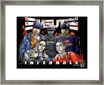 Emeute Infernale - Black Version Framed Print