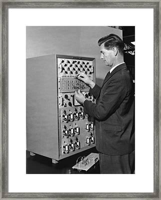 Emiac Mainframe Framed Print by Archive Photos