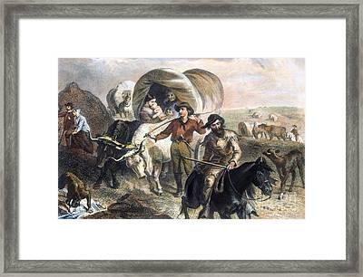 Emigrants To West, 1874 Framed Print by Granger