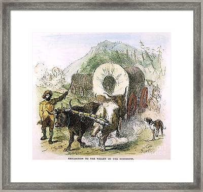 Emigrants To West Framed Print by Granger