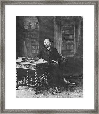 Emile Zola 1840-1902 Novelist Framed Print