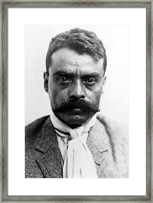 Emiliano Zapata In 1914 Framed Print by Everett