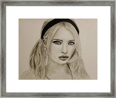 Emily Framed Print by Michael Cross