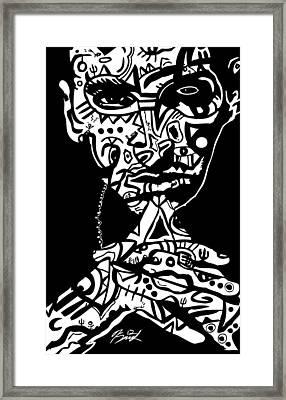 Eminem By Kamoni-khem Framed Print by Kamoni Khem