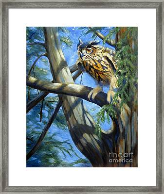 Framed Print featuring the painting Eminent Flight by Pat Burns