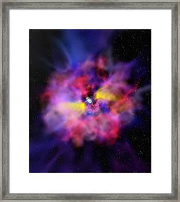 Emission Nebula, Computer Artwork Framed Print