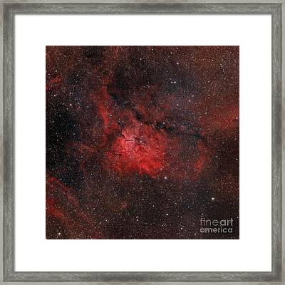 Emission Nebula Ngc 6820 Framed Print by Rolf Geissinger