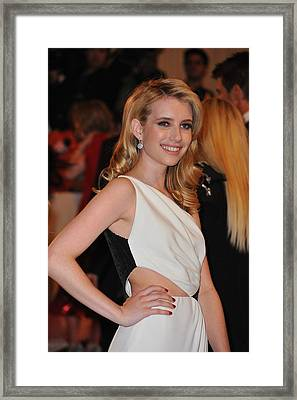 Emma Roberts At Arrivals For Alexander Framed Print by Everett