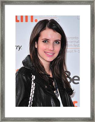 Emma Roberts At Arrivals For Daydream Framed Print