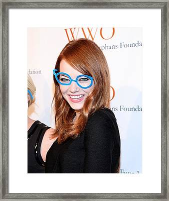 Emma Stone At Arrivals For The Framed Print